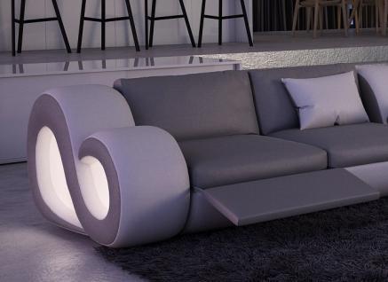 Leder Couch Nesta L-Form XXL mit Beleuchtung - Vorschau 3