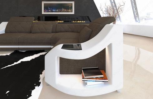 elegante Sofa Couch Genau in L Form mit Chesterfield Steppung - Vorschau 3