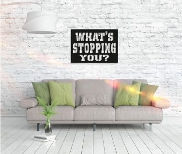 Metall Wandbild - What´s Stopping You? - Vorschau