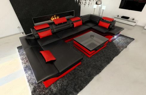 Sofa Wohnlandschaft Enzo in U Form auch mit Schlaffunktion - Vorschau 2