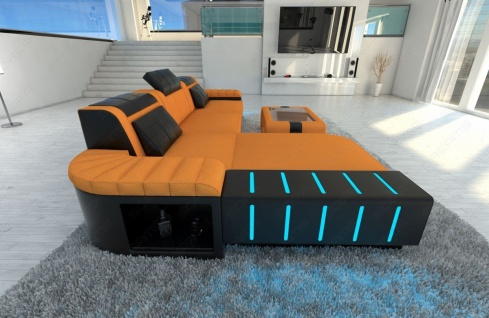 Polster Couch Bellagio in der L Form mit edler LED Beleuchtung