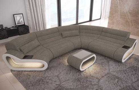 Wohnlandschaft Stoff Couch Concept mit LED Beleuchtung - Vorschau 4