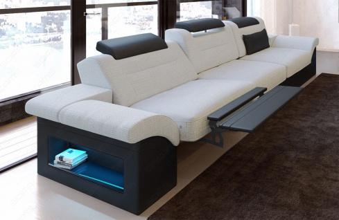 Dreisitzer Polstersofa Monza mit Relaxfunktion und LED Beleuchtung