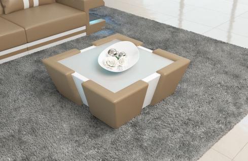 Designer Couchtisch Apollonia ist ein zweifarbiger Wohnzimmertisch
