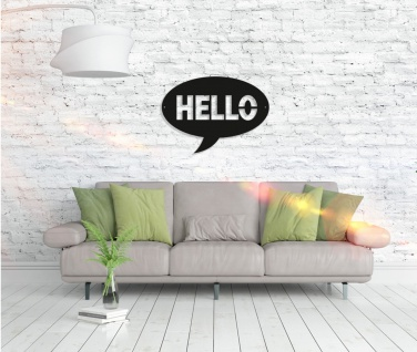 Metall Wandbild - Hello - Vorschau