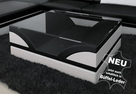 Glastisch Monza als moderner Couchtisch zu ihrem Sofa