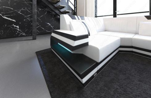 Sofa Wohnlandschaft Ravenna als U Form mit LED Beleuchtung - Vorschau 4