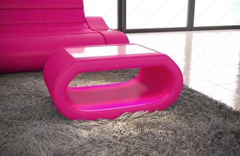 Leder Couchtisch Concept - Wohnzimmertisch mit LED Beleuchtung - Vorschau 3