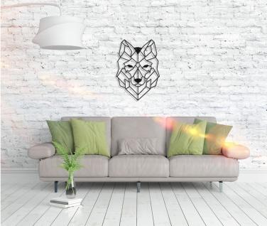Metall Wandbild - Wolf - Vorschau