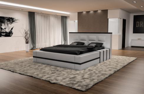 Luxus Designerbett Asti mit Beleuchtung in Boxspring Optik - Vorschau 3