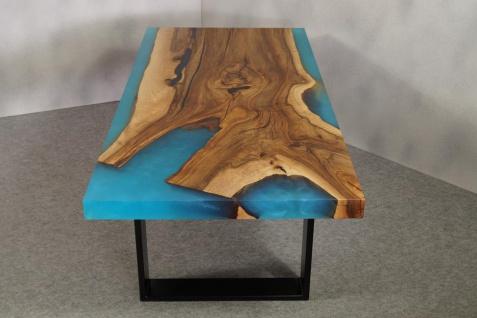 Couchtisch Holz Epoxidharz Mix River - Vorschau 5