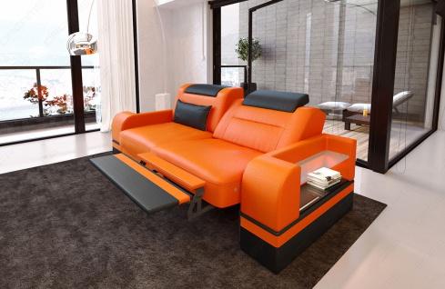Design Leder 2 Sitzer Parma mit opt. Relaxfunktion