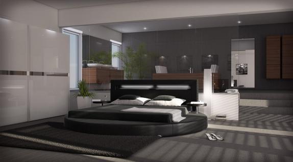 Designer Rundbett Night in schwarz 180 x 200 cm - Vorschau 1