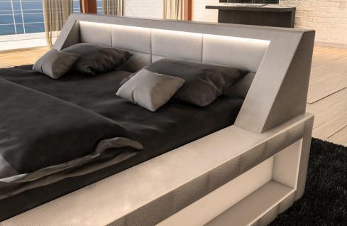 Modernes Designerbett Matera mit LED Beleuchtung - Vorschau 2