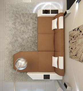 Sofa Prato in Stoff als L Form Ecksofa auch mit Bettfunktion - Vorschau 3