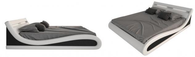 komplettbett caserta mit matratze und lattenrost 140x200. Black Bedroom Furniture Sets. Home Design Ideas