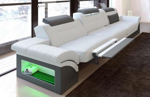 Modernes Sofa Monza als 3 Sitzer Couch mit Beleuchtung