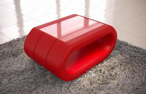 Leder Couchtisch Concept - Wohnzimmertisch mit LED Beleuchtung - Vorschau 4