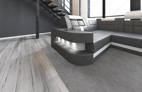Sofa Wohnlandschaft Wave in U Form mit relaxe Ottomane - Vorschau 3