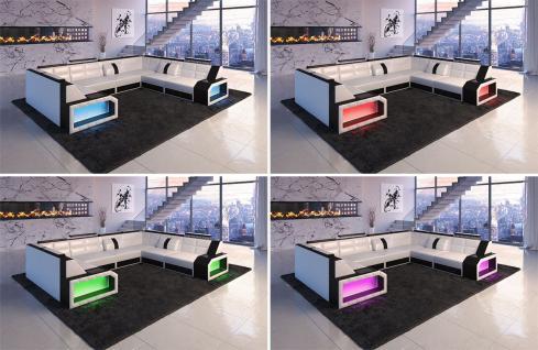 Sofa Wohnlandschaft Pesaro in der U Form mit LED Licht - Vorschau 2