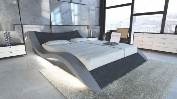 polsterbett frankfurt im komplettset mit led beleuchtung kaufen bei pmr handelsgesellschaft mbh. Black Bedroom Furniture Sets. Home Design Ideas