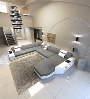 Couch Wohnlandschaft Prato in Stoff als XXL Ausführung