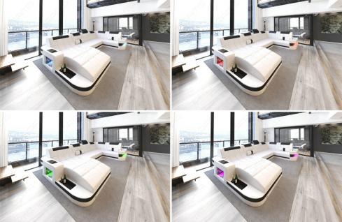 Sofa Wohnlandschaft Wave in U Form mit relaxe Ottomane - Vorschau 2