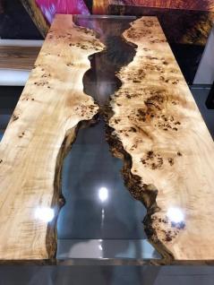 Esstisch Holz Epoxidharz Mix Lake