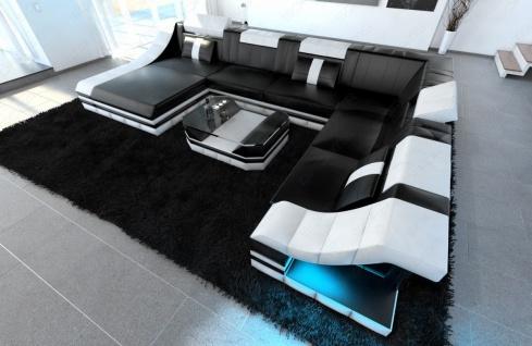 Sofa Wohnlandschaft Turino als XXL mit Leder bezogen - Vorschau 4
