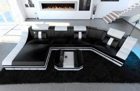 Design Wohnlandschaft Turino als C Form mit Beleuchtung