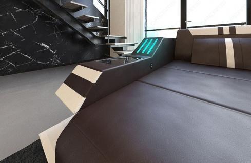 Sofa Wohnlandschaft Ravenna als U Form mit LED Beleuchtung - Vorschau 3