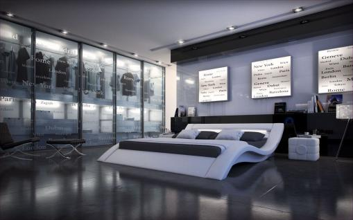 bett 180x200 leder g nstig online kaufen bei yatego. Black Bedroom Furniture Sets. Home Design Ideas