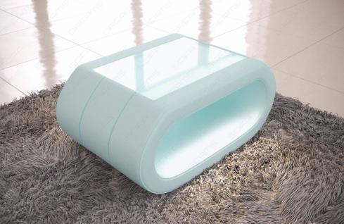 Leder Couchtisch Concept - Wohnzimmertisch mit LED Beleuchtung - Vorschau 2