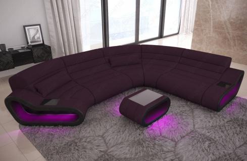 Wohnlandschaft Stoff Couch Concept mit LED Beleuchtung - Vorschau 2
