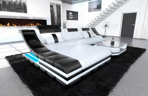 Sofa Turino in Leder als modernes L Form Ecksofa - Vorschau 1