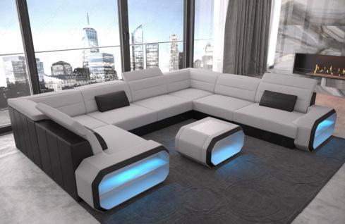 Luxus Eckcouch Verona U mit LED Beleuchtung