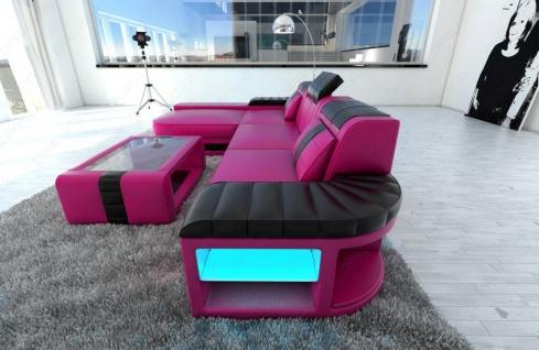 Sofa Bellagio als modernes Ecksofa in der L Form mit LED Beleuchtung - Vorschau 2