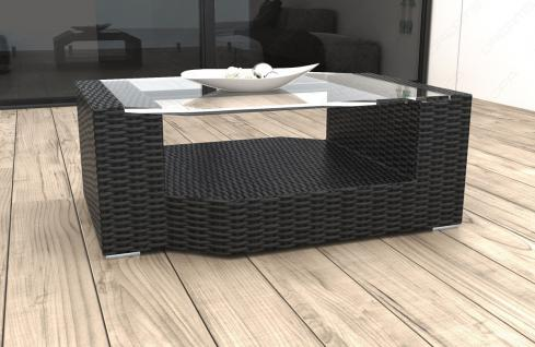 Designer Rattan Tisch Messana für Garten und Terrasse
