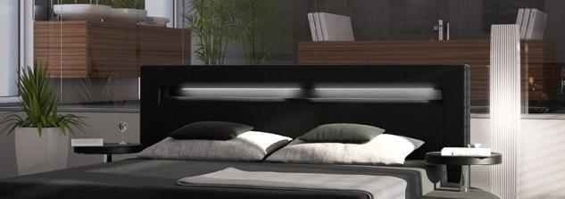 Designer Rundbett Night in schwarz 180 x 200 cm - Vorschau 3