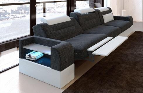 Dreisitzer Polstersofa Parma mit Relaxfunktion und LED Beleuchtung