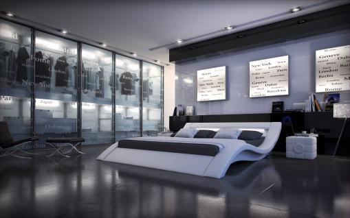 Komplettbett Massa mit LED Beleuchtung Matratze und Lattenrost 180 x 200 cm - 200 x 200 cm - 200 x 220 cm