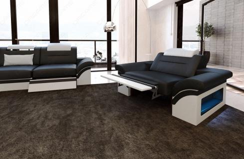 Leder Sofagarnitur Monza mit 3 Sitzer und 2 Sitzer Sofa - Vorschau 3
