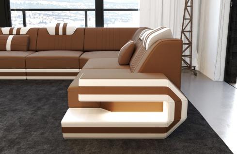 Ecksofa Ragusa in Stoff als L Form mit Beleuchtung - Vorschau 3