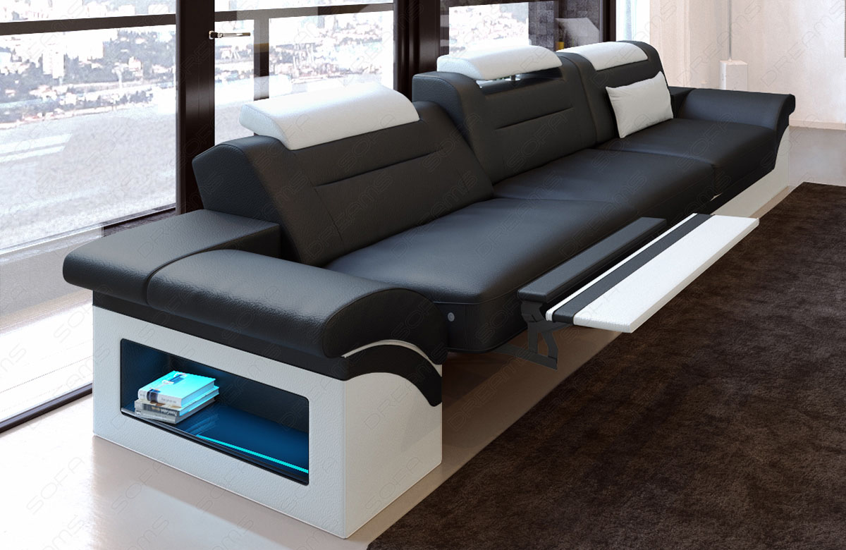 Modernes Sofa Monza als 3 Sitzer Couch mit Beleuchtung ...