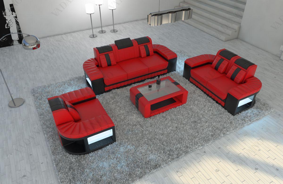 Couch Garnitur Bellagio mit 3 sitzer 2 Sitzer Sofas und Sessel Kaufen bei PMR
