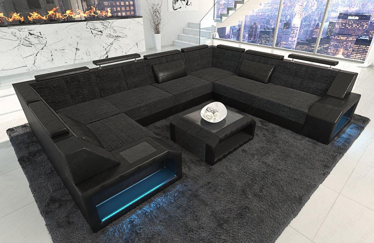 Sofa Wohnlandschaft Pesaro Mit Stoffbezug In L Form Als Ecksofa