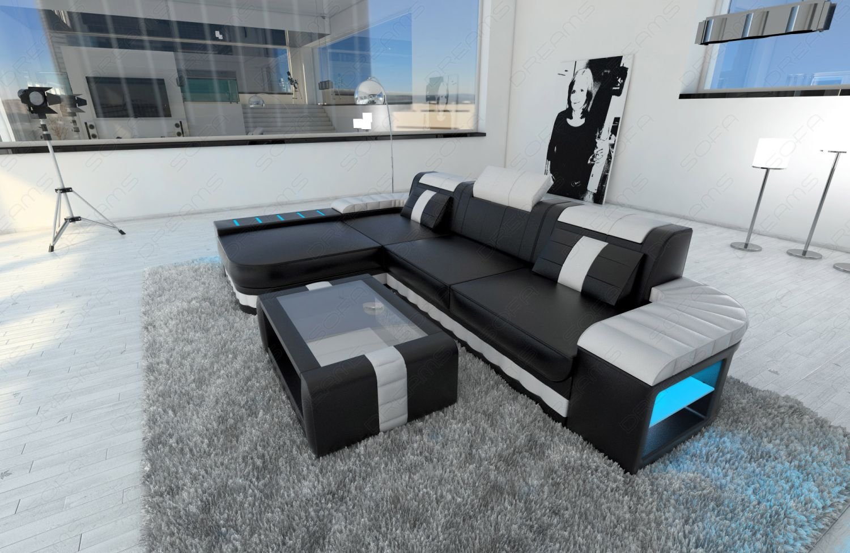 Sofa Bellagio als modernes Ecksofa in der L Form mit LED ...