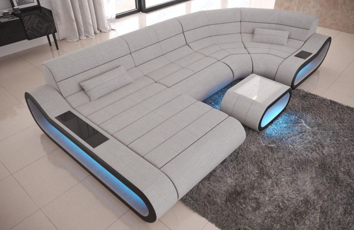 Wohnlandschaft Stoff Couch Concept Mit Led Beleuchtung Kaufen Bei
