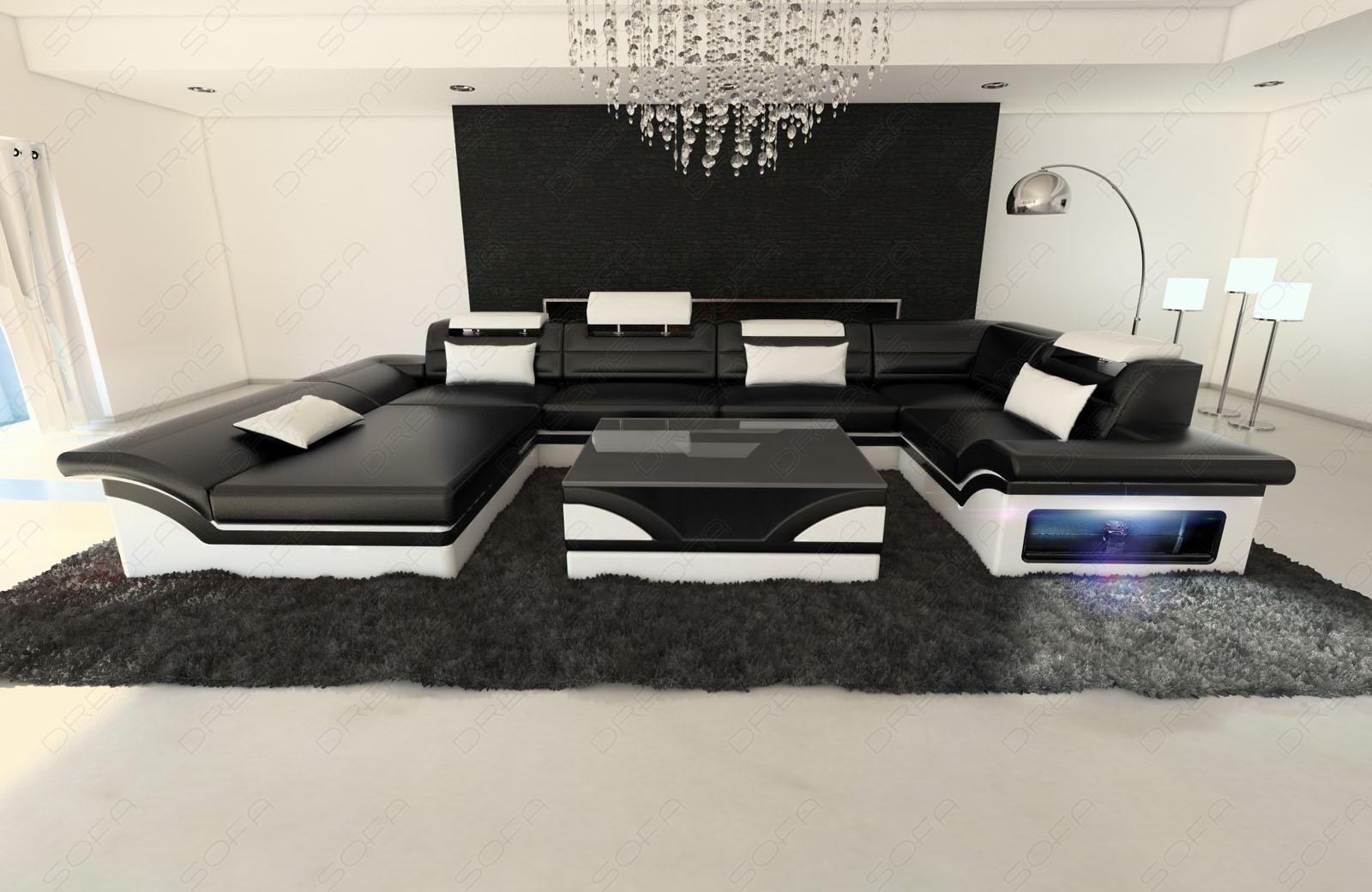 Sofa Wohnlandschaft Enzo In U Form Auch Mit Schlaffunktion Kaufen