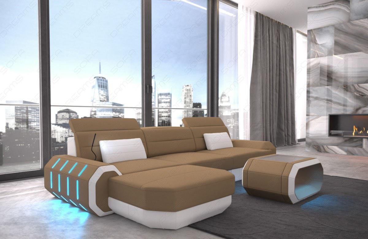 stoffsofa roma als modernes ecksofa in der l form kaufen. Black Bedroom Furniture Sets. Home Design Ideas